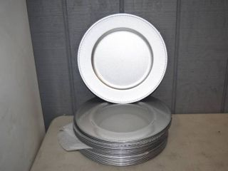 24 Silver Charger Plates 13