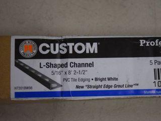 Custom l Shaped Channel PVC Tile Edging