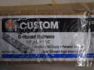 Custom R Round Bullnose Aluminum Tile Edging