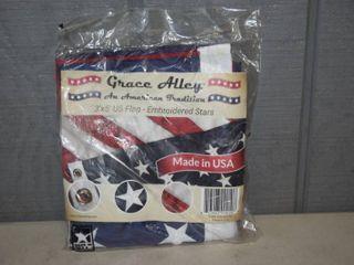 Grace Alley 3  x 5  American Flag