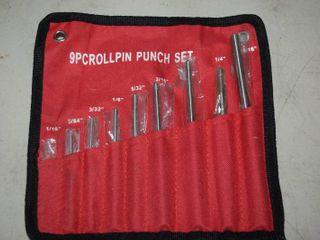 9 Piece Rollpin Punch Set