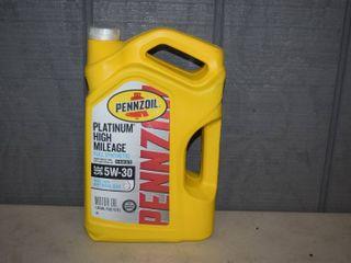 5 Quarts Penzoil Platinum High Mileage Synthetic SAE 5W 30 Motor Oil