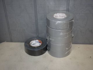 6 Rolls Duct Tape   5 silver and 1 black