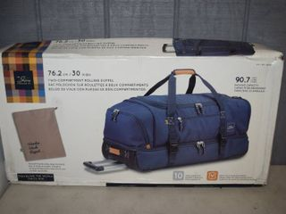 Skyway luggage 30  Two Compartment Rolling Duffel   Navy