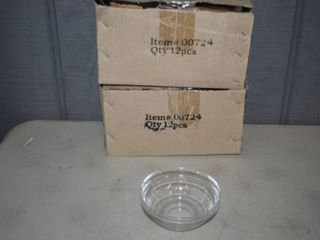 24 Small Clear Bowls 4  Diameter and 2  Tall