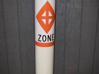 Work Zone Post   PVC   60  tall with 9  diameter