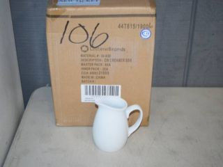 8 Fitz and Floyd Everyday White Cream Pitchers