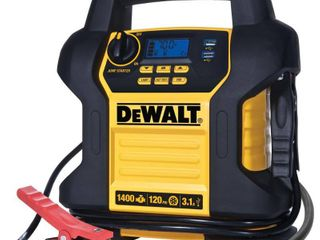 DEWAlT 14 jump starter  1400 peak 700 instant amps  120 psi digital air compressor