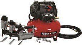 PORTER CABlE 6 Gallon Air Compressor 3 pcs Combo set