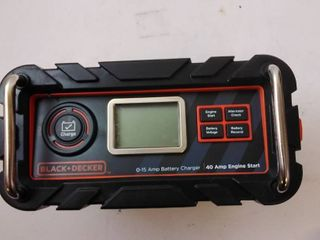 Black   Decker BC15BD 15 Amp Bench Battery Charger with Engine Start Timer