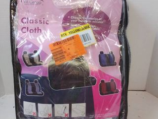 FH Group Flat Cloth 52 in  x 58 in  x 1 in  Rear Car Seat Cover  Black