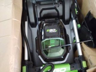 EGO 21 in  56V lithium Ion Cordless Electric Walk Behind Push Mower  5 0 Ah Battery and Charger Included
