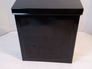 Gibraltar Vertical Galvanized Steel Wall Mounted Black lockable Mailbox 10 1 2 in  H x 4 in  W x 9 in  l