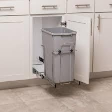 Simply Put 35 Quart Plastic Pull Out Trash Can