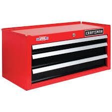 craftsman red top tool box has dent on top
