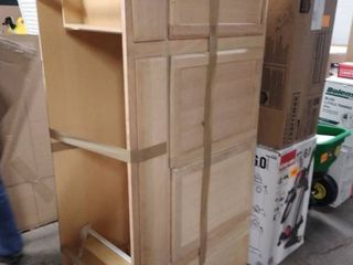 kitchen wood cabinet as is 36 inches tall 5 ft long 24 inches deep