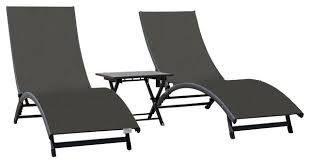 Coral Springs lounger 3 Pc Set   Aluminum   Macchiato 2 boxes