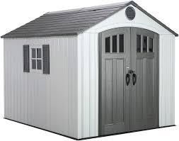 lIFETIME PRODUCTS Gable Storage Shed  Common  8 ft x 10 ft  Interior Dimensions  7 5 ft x 9 5 ft  2 boxes