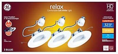 GE lighting 47697 Relax HD lED light Bulbs  Soft White  9 Watt  750 lumens  3 Pk    Quantity 1
