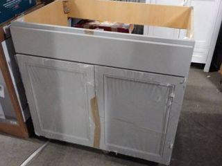 grey base cabinet 36 tall 36 long 24 deep