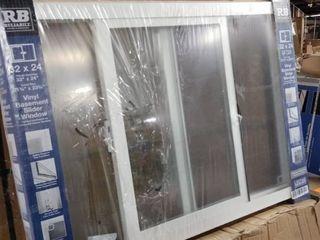 rb rellabilt vinyl basement slider window broken glass white 32 x 24