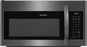Frigidaire   1 8 Cu  Ft  Over the Range Microwave   Black stainless steel needs door latch repair