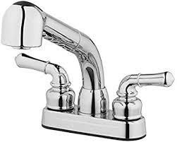 Project Source Chrome 2 Handle Utility Sink Faucet with Pulldown Sprayer