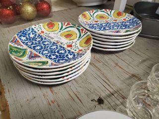 12 Pcs  Of MonteRosso Dishware