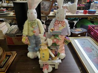lot of 3 Easter Bunny Decor
