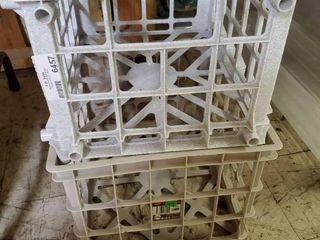 lot of 2 Milk Crates
