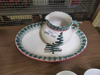 Furio Made In Italy Christmas Plate and Pitcher