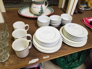 lot of Various White Dishware