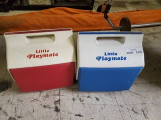 lot of 2 little Playmate Coolers