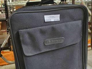 Black Suitcase on Wheels