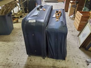 lot of 2 Blue Suitcases