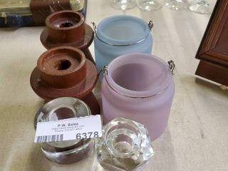 lot of various candle holders