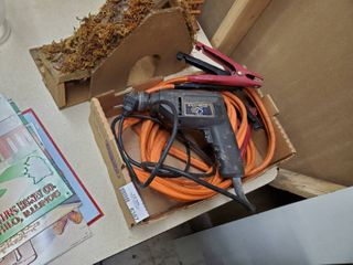 Black   Decker Drill and 4 Gauge Jumper Cables