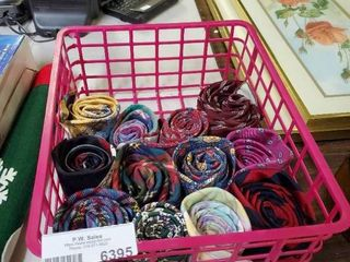 lot of 12 Mens Ties with Pink Basket