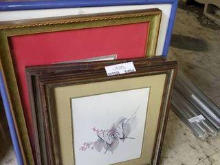 large lot of Framed Prints