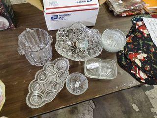 lot of Cut Glass Decor