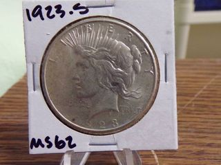 1923 S PEACE SIlVER DOllAR MS62