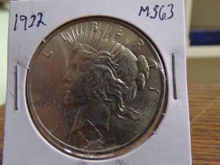 1922 PEACE SIlVER DOllAR MS63
