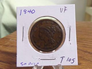 1840 lARGE CENT VF