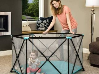 Regalo 1370 DS My Play  6 Panel Portable Play Yard  Aqua