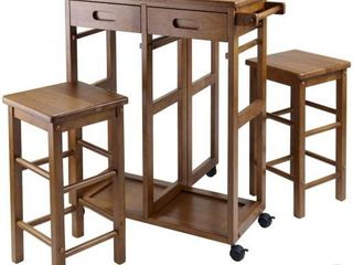 3pc Suzanne Space Saver Set Teak   Winsome