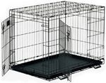 Midwest life Stages Double Door Folding Metal Dog Crate  48 Inches by 30 Inches by 33 Inches