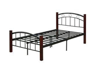Hodedah Complete Metal Bed in Twin Size  MISSING HARDWARE