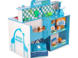 Melissa   Doug Animal Care Veterinarian and Groomer Wooden Activity Center