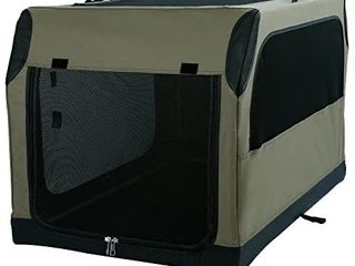 A4Pet Soft Collapsible Dog Crate and Kennel with leak Proof Bottom for Indoor or Travel Use  36 inches  large carrier