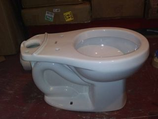 American Standard 3708 216 020 H2Option Siphonic Dual Flush Round Front Toilet Bowl  White  Bowl Only